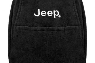 Seat Armour® - Black Console Cover (with Jeep Logo)