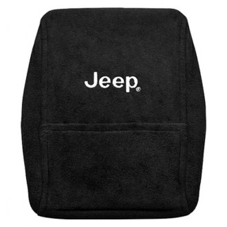 Seat Armour® - Black Cotton/Terry Velour Console Cover with Jeep Logo