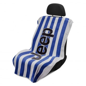 Seat Armour® - Blue Cabana Stripe Beach Towel with Jeep Logo