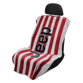 Seat Armour® - Red Cabana Stripe Beach Towel with Jeep Logo