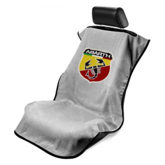 Seat Armour® - Gray Towel Seat Cover with Abarth Logo