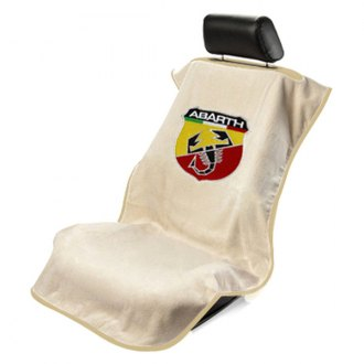 Seat Armour® - Tan Towel Seat Cover with Abarth Logo