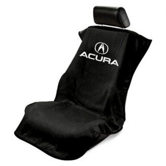 Seat Armour® - Black Towel Seat Cover with Acura Logo