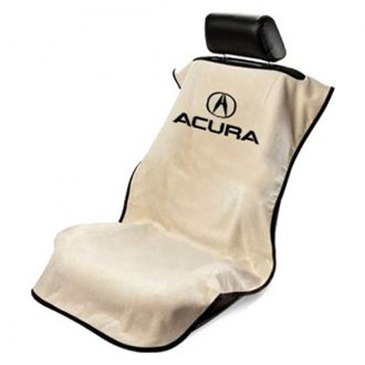 Seat Armour® - Tan Towel Seat Cover with Acura Logo