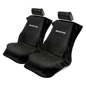 Seat Armour® - Black Towel Seat Cover with Mercedes AMG Logo