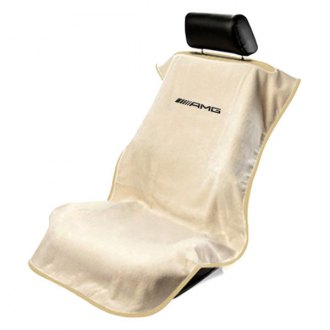 Seat Armour® - Tan Towel Seat Cover with Mercedes AMG Logo