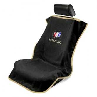 Seat Armour® - Black Towel Seat Cover with Buick Logo
