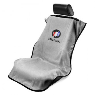Seat Armour® - Gray Towel Seat Cover with Buick Logo
