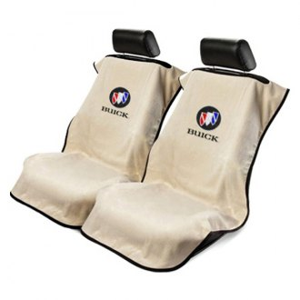 Seat Armour® - Tan Towel Seat Cover with Buick Logo