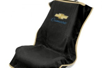 Seat Armour® SA100CAMB - Black Towel Seat Cover with Old Style Camaro Logo