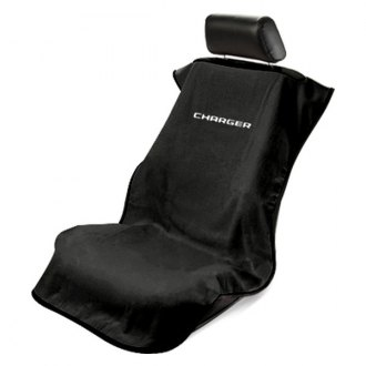 Seat Armour® - Black Towel Seat Cover with Charger Logo