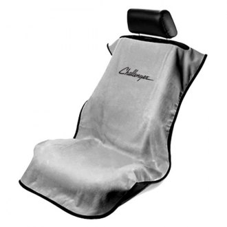 Seat Armour® - Gray Towel Seat Cover with Challenger Logo