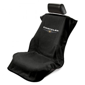 Seat Armour® - Black Towel Seat Cover with Chrysler Logo