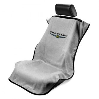 Seat Armour® - Gray Towel Seat Cover with Chrysler Logo