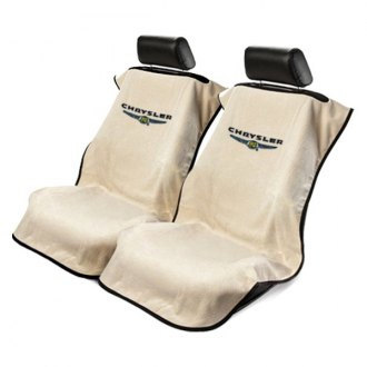 Seat Armour® - Tan Towel Seat Cover with Chrysler Logo