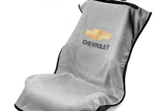 Seat Armour® SA100CHVG - Gray Towel Seat Cover with Chevy Logo