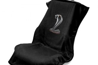 Seat Armour® SA100COBB - Black Towel Seat Cover with Cobra Logo