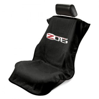 Seat Armour® - Black Towel Seat Cover with Corvette Z06 Logo