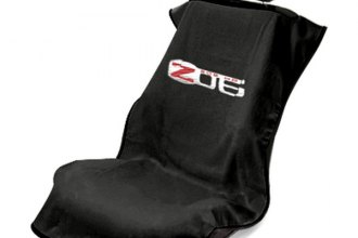 Seat Armour® SA100COR6ZB - Black Towel Seat Cover with Z06 Logo