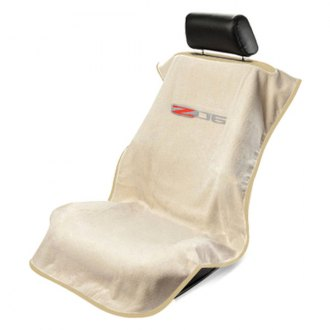 Seat Armour® - Tan Towel Seat Cover with Corvette Z06 Logo