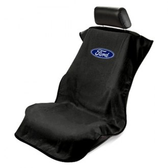 Seat Armour® - Black Towel Seat Cover with Ford Logo