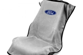 Seat Armour® SA100FORG - Gray Towel Seat Cover with Ford Logo