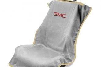 Seat Armour® SA100GMCG - Gray Towel Seat Cover (with GMC Logo)