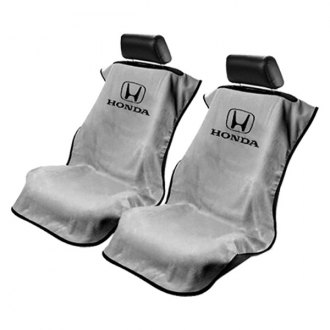Seat Armour® - Gray Towel Seat Cover with Honda Logo