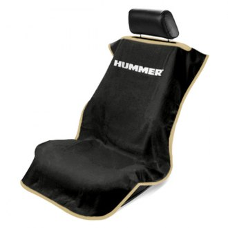 Seat Armour® - Black Towel Seat Cover with Hummer Logo