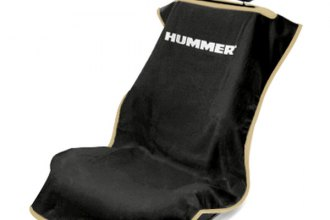 Seat Armour® SA100HUMB - Black Towel Seat Cover with Hummer Logo