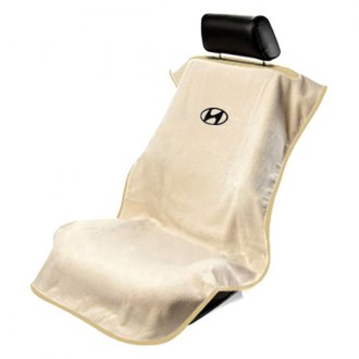 Seat Armour® - Tan Towel Seat Cover with Hyundai Logo