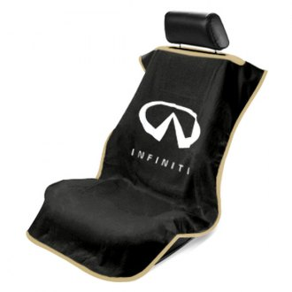 Seat Armour® - Black Towel Seat Cover with Infiniti Logo