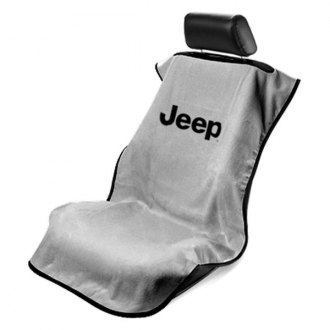 Seat Armour� - Gray Towel Seat Cover (Logo without Grille)