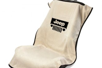 Seat Armour® SA100JEPGT - Tan Towel Seat Cover (Logo with Grille)