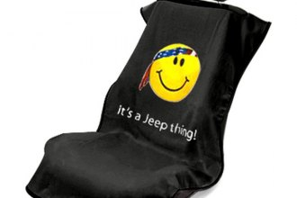 Seat Armour® SA100JEPSFB - Black Towel Seat Cover (Smiley Face)