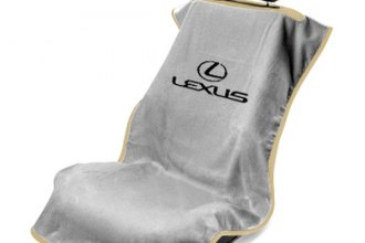Seat Armour® SA100LXSG - Gray Towel Seat Cover with Lexus Logo