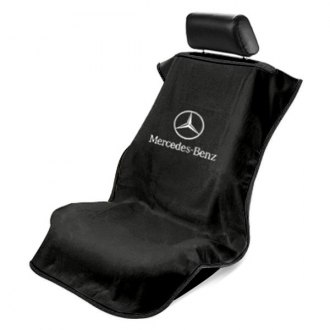 Seat Armour® - Black Towel Seat Cover with Mercedes Logo