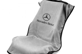 Seat Armour® SA100MBZG - Gray Towel Seat Cover (with Mercedes Logo)