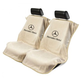Seat Armour® - Tan Towel Seat Cover with Mercedes Logo
