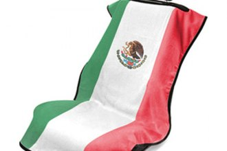 Seat Armour® - Flag Print Towel Seat Cover with Mexican Flag Logo