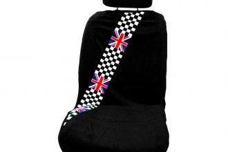 Seat Armour® - Black Checkered Towel Seat Cover with Checkered Logo