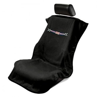 Seat Armour® - Black Checkered Towel Seat Cover