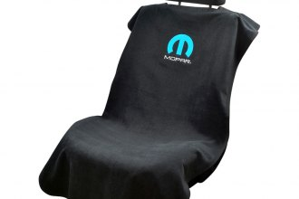 Seat Armour® - Black Towel Seat Cover with Mopar Logo