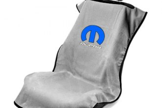 Seat Armour® - Gray Towel Seat Cover with Mopar Logo