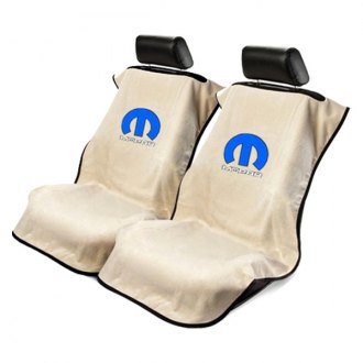 Seat Armour® - Tan Towel Seat Cover with Mopar Logo