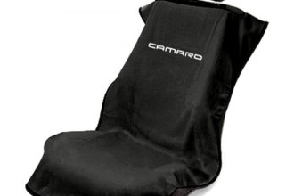 Seat Armour® SA100NCAMB - Black Towel Seat Cover (New Style Camaro Logo)