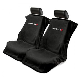 Seat Armour® - Black Towel Seat Cover with Dodge Logo New Style