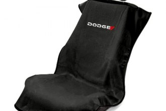 Seat Armour® SA100NEWDODGB - Black Towel Seat Cover with Dodge Logo New Style