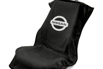 Seat Armour® SA100NISSB - Black Towel Seat Cover with Nissan Logo