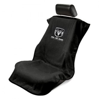 Seat Armour® - Black Towel Seat Cover with Dodge Ram Logo